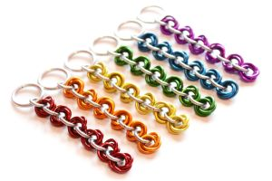 Anodized Aluminum Mobius Knot Keychain by Gibbtall