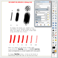 KD's Gimp Oil Brush2 (for GIMP 2.8) by kwikdraw