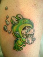 mario tattoo by kenpower