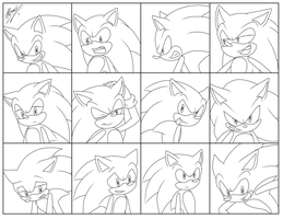 Expressions ~ Sonic by Myly14