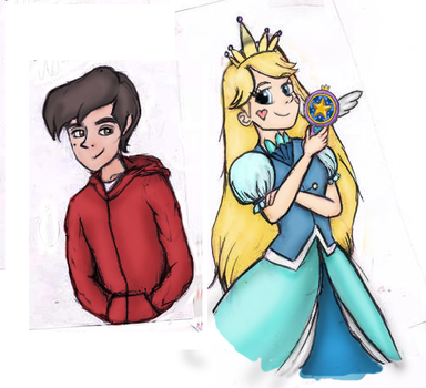Star Vs. Forces of Evil: Star and Marco by SophieStinsonRandom