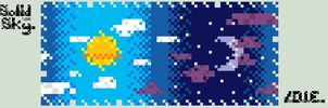 Solid Sky Pixel by Drown-In-Empathy