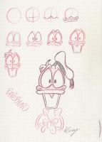 How to draw 1 - Donald Duck by Tremotino