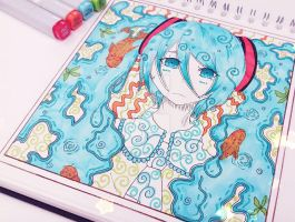 Miku _ The ocean calls _ Complete by Candy-Witch