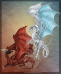 Dragon friends commission by DrakainaQueen