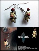 Moogle Earrings - Kupo! by TheLandoBros