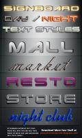 Signboard text styles by kh2838