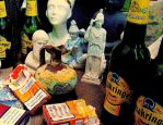Statues and Beer by MushroomBrain