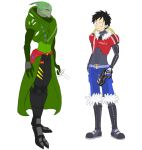Luffy and Zoro in Mass Effect by Atenara