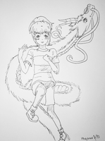 Spirited Away fan doodle by WhenMinaCries