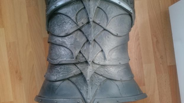 Daedric armour WIP: Why weather? by talkenia
