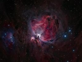 M42 - Orion Nebula Deepfield by DoomWillFindYou