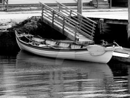 Mystic Seaport in Black and White by TriciaStucenski
