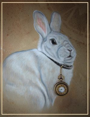 White rabbit by Malina-art