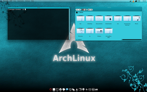 Arch Linux KDE 4.8 Turquoise by CraazyT