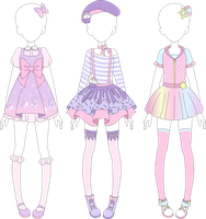 MRA: Fairy Kei Designs 1 by VanillaChama