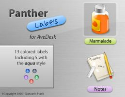 Panther Labels for AveDesk by HybridRainbow2004
