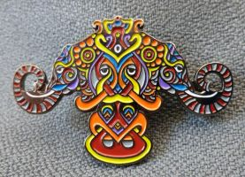 Elephants Pin - Series 1 by PhilLewis
