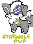 StarWolf Pup by CyprusBeetle