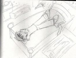 Sketch for Danny Fenton piece by whitegryphon