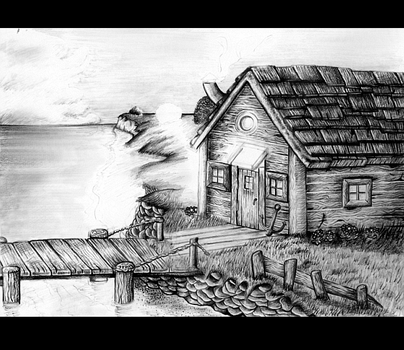 Unfinished Fishermans Hut by Rachykins