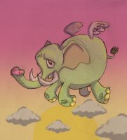 flying elephant second version by 231705