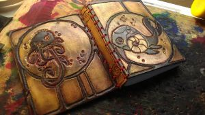 Sea Monsters Leather Book by StudioGruhnj