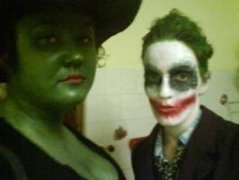 Joker and Wicked Witch Halloween by sarahbevan11
