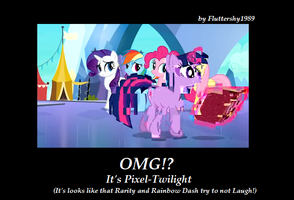 OMG, It's Pixel Twilight by Fluttershy1989