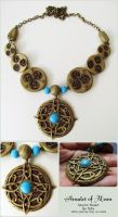 Amulet of Mara Polymer Clay Necklace by Talty