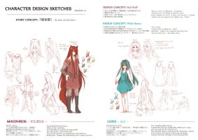 Character Reference: Mae and Luna by hitogata