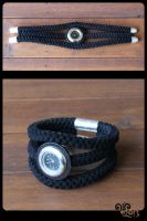 Braided suede bracelet with hand watch by ViKiV