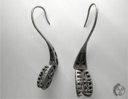 Flytrap Earrings - Pair by improbablecog