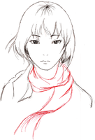 Mikasa Ackerman sketchy sketch by i-eat-rich-kids