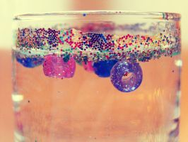 glitter in a glass by normaajean