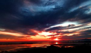 Red sunrise by MimKa