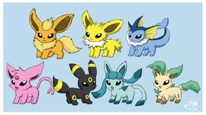 New Eeveelution Models by pichu90