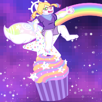 galactic Pupcake by HedgehodgeMonster