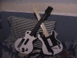 Both guitars for GH by megan-the-Speeddemon
