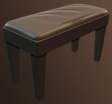 Piano Stool High Poly by dudealan2001