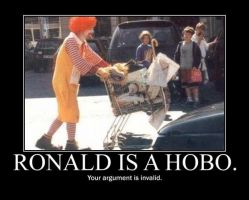 Poster - RONALD IS A HOBO. by E-n-S