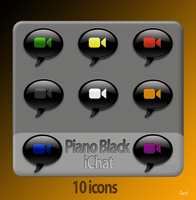 Pianoblack iChat by packrobottom