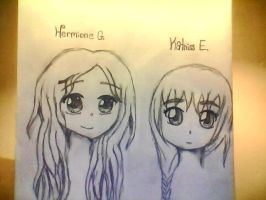 Katniss and Hermione by lizzy905