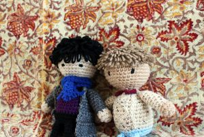 John and Sherlock 8 inch dolls by oddsterinJpan