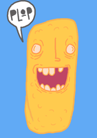 Prozac FishStick looks happy by SpaceWaffleDelivery