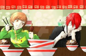 Chie and Sho Enter the Meat Dimension by Lillithrose
