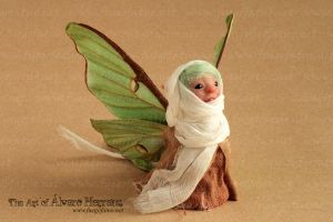 Luna moth faerie available at my Etsy shop! by AlvaroFuegoFatuo