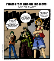 Pirate Front Line On The Move by k11n