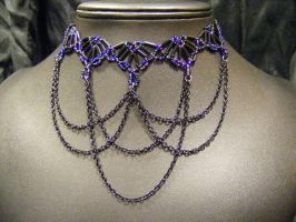 twilight princess choker with drapes by BacktoEarthCreations
