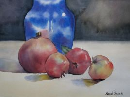 85. Pomegranates and Vase by Masasasaki